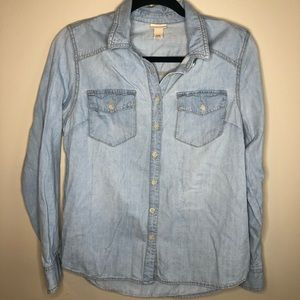 Missimo Supply Co Denim button down shirt size M